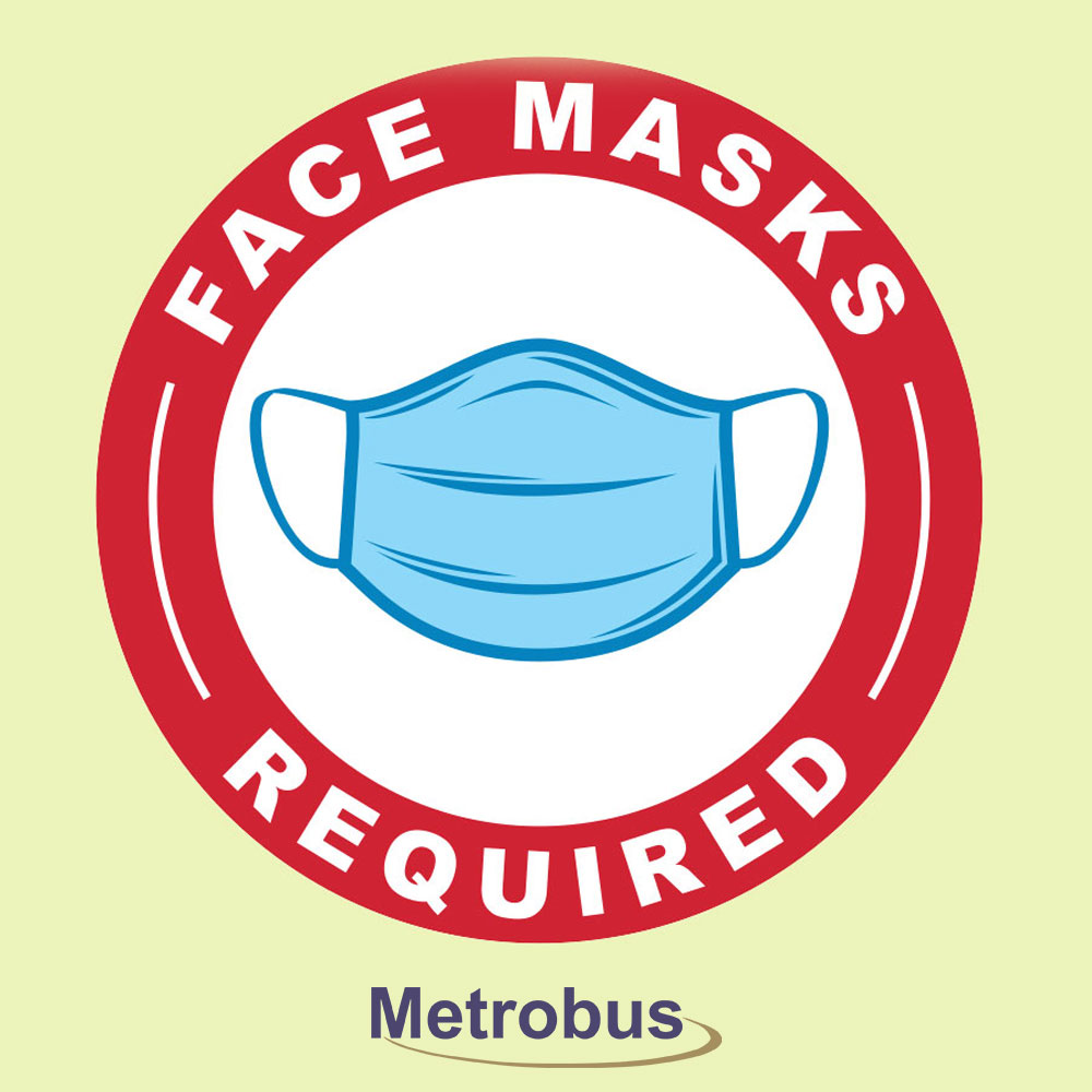 Face masks required on board effective August 24th.