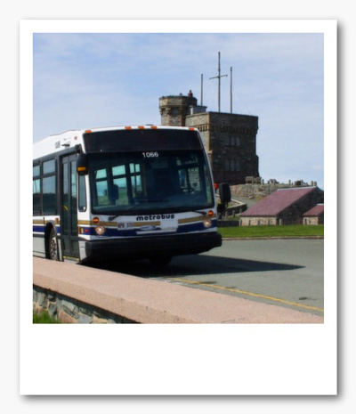 Image of Metrobus charter near Cabot Tower